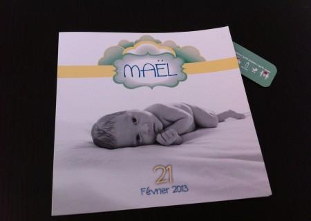 Conception et Réalisation d'une carte de naissance / fredmuller graphiste