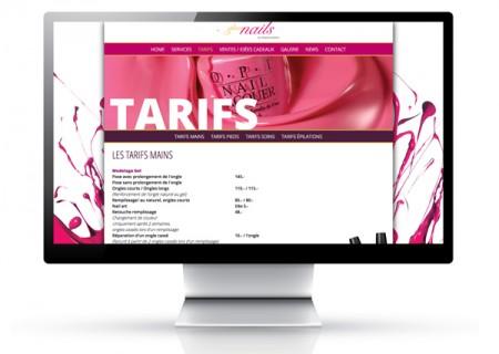 Conception et réalisation du site web pour l'onglerie glam'n'ails à aubonne / fredmuller graphiste