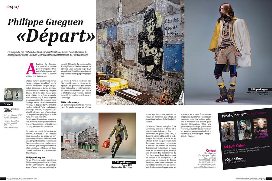 l'extension magazine Création des maquettes et mise en page du Magazine L'Extension (Genève et région) de octobre 2007 à janvier 2013. article expo / fred muller / graphiste / portfolio