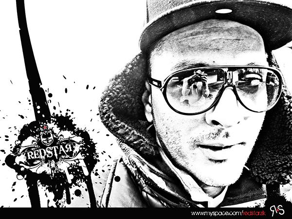 Conception et réalisation de l'identité visuelle du musicien hip-hop redstar. (logo, pochette CD...) Portfolio / fredmuller / graphiste / print web / swiss