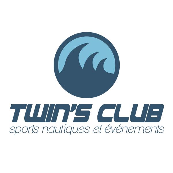 Conception et réalisation du logo de la base nautique le Twin's club situé à port-choiseul, Versoix. / fredmuller / graphiste / print et web