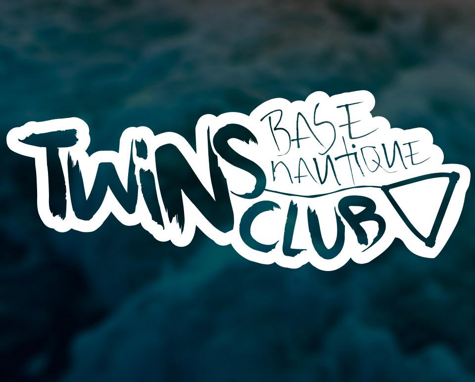 Conception et réalisation de l'identité visuelle de la base nautique le Twin's club situé à port-choiseul, Versoix. / fredmuller / graphiste / print et web