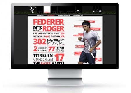 Conception et réalisation d'un site fictif sur le joueur de tennis Roger Federer. Projet réalisé durant la formation Altran. Full CSS3 et HTML5