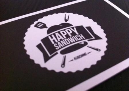 """identité visuelle de la sandwicherie """"Happy Sandwich à Aubonne"""" / fredmuller / graphiste / idependant"""